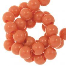 Acrylperlen (6 mm) Sunset Orange (100 Stück)