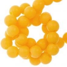 Acrylperlen Matt (8 mm) Sunrise Yellow (100 Stück)