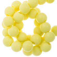 Acrylperlen Matt (8 mm) Pastel Yellow (100 Stück)