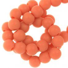 Acrylperlen Matt (6 mm) Sunset Orange (100 Stück)