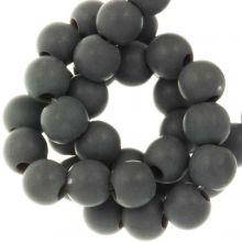 Acrylperlen Matt (6 mm) Dark Grey (100 Stück)