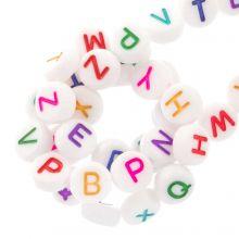 Acryl Buchstabenperlen Mix (7 x 4 mm) Mix Color (350 Stück)