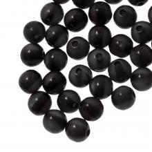 Kunstharz Perlen (6 mm) Black Shine (50 Stück)