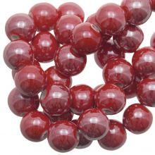 Keramikperlen (10 mm) Red (20 Stück)