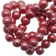 Keramikperlen (8 mm) Red (25 Stück)