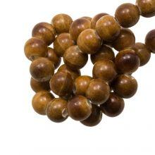 Keramikperlen (6 mm) Marble Brown (20 Stück)
