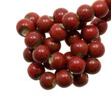 Keramikperlen (6 mm) Spotted Red (20 Stück)