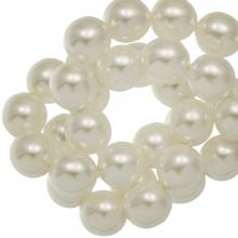 DQ Glaswachsperlen (6 mm) Broken White Shine (80 Stück)
