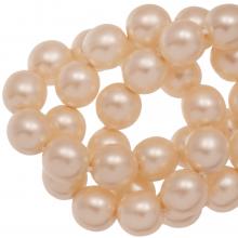 DQ Glaswachsperlen (4 mm) Tangerine Matt (110 Stück)