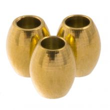 Edelstahl Perlen (5 x 4 mm) Gold (10 Stück)