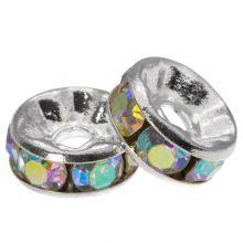 Strasssteinperlen (8 x 4 mm) Crystal Shine (10 Stück)