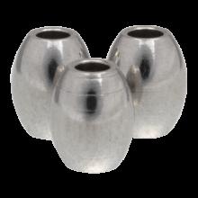 Edelstahl Perlen (5 x 4 mm) Altsilber (10 Stück)