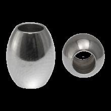 Edelstahl Perlen Großes Loch (10 x 8 mm) Altsilber (10 Stck)