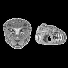Edelstahl Perlen (12 x 8 mm) Altsilber (1 Stück)