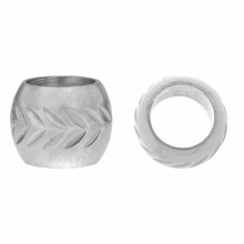 Edelstahl Perlen Großes Loch (8 x 10 mm) Altsilber (1 Stück)