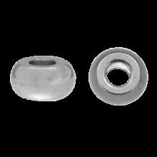 Edelstahl Perlen (6 x 3 mm) Altsilber (20 Stück)