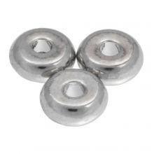 Metallperlen (6 mm) Altsilber (40 Stück)