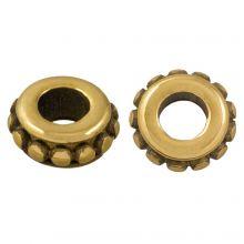 Edelstahl Perlen (6.5 x 3 mm) Alt Gold (1 Stück)