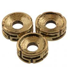 Metallperlen (7.5 x 3 mm) Alt Gold (25 Stück)