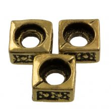 Metallperlen (5 x 5 mm) Alt Gold (25 Stück)