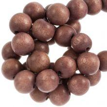 holzperlen 6 mm runde perlen vintage look farbe