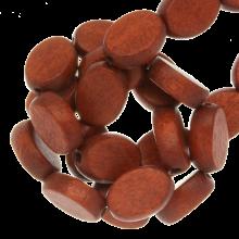 Holzperlen Flach red jasper oval