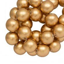 holzperlen metallic gold groß 20 mm