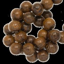runde Holzperlen robles farben 5 mm