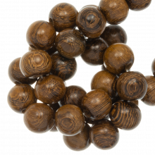 Runde Holzperlen 10 mm robles braun farben