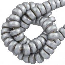 holzperlen metallic silber farbe 8 mm