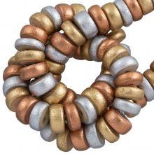 holzperlen gemalt metallic farben 8 mm