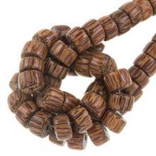holzperlen braun farbe palmwood 11 mm