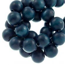 holzperlen petrol blue farbe runden bilden 10 mm