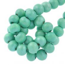 holzperlen metallic mint green 8 mm große