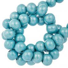 holzperlen aqua blue metallic farbe 8 mm perlen