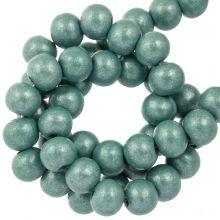holzperlen sea green metallic farbe 8 mm