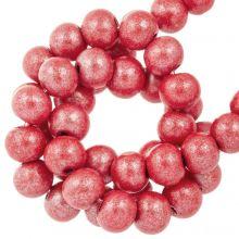 metallic holzperlen rot farbe 8 mm