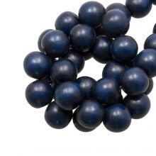 holzperlen runden form 10 mm dunker blau