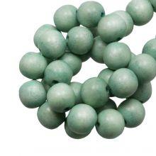 holzperlen runde perlen powder Grün 6 mm