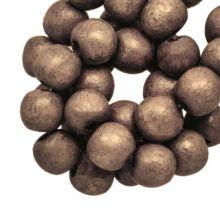 holzperlen rund dirt brune farbe 6 mm