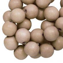 holzperlen runde perlen 8 mm baby blush vintage look farbe