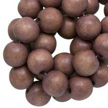 holzperlen rund hazelnut brown farbe 10 mm
