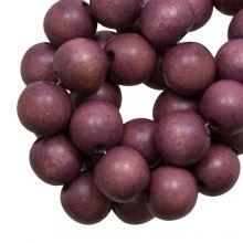 holzperlen boysenberry vintage look 10 mm