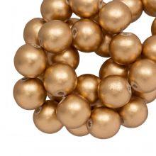 Holzperlen metallic Look gold 10 mm groß