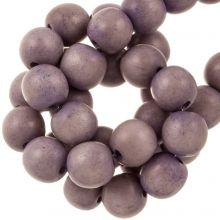 vintage look holzperlen violett farben 10 mm