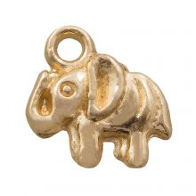 Charm Elefant (12 x 3 mm) Gold (25 Stück)