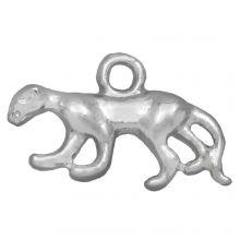 Charm Panther (11 x 3,5 mm) Altsilber (25 Stück)