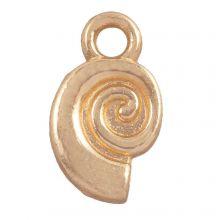 Charm Muschel (12 x 7 mm) Gold (25 Stück)