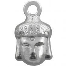 Charm Buddha (14 x 8 mm) Altsilber (25 Stück)