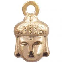 Charm Buddha (14 x 8 mm) Gold (25 Stück)